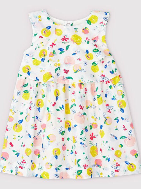 Petit Bateau Baby Girls' Short-sleeve Poplin Dress