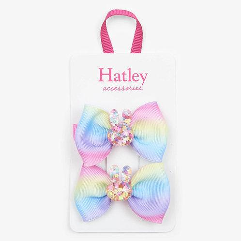 Hatley Glitter Bunnies Hair Clips