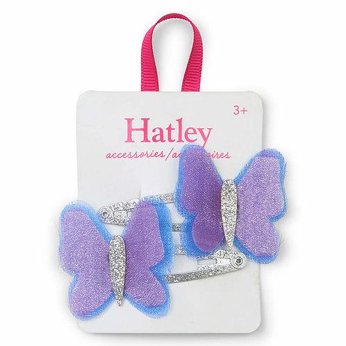 Hatley Shimmer Butterflies Snap Clips