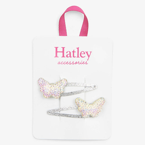 Hatley Sparkling Butterflies Snap Clips