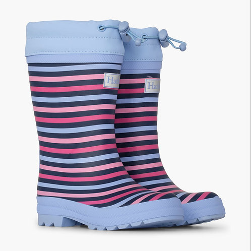 Hatley Rainbow Stripe Sherpa Lined Welly Boot