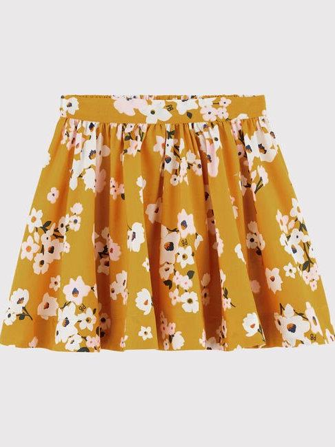 Petit Bateau Mustard Flowered Skirt