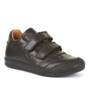 Froddo Black Leather Double Strap School Shoe G3130133