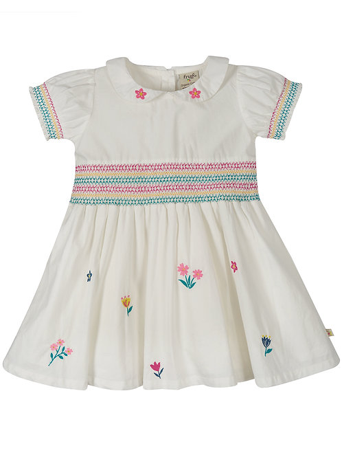 Frugi Posy Embroidered Dress