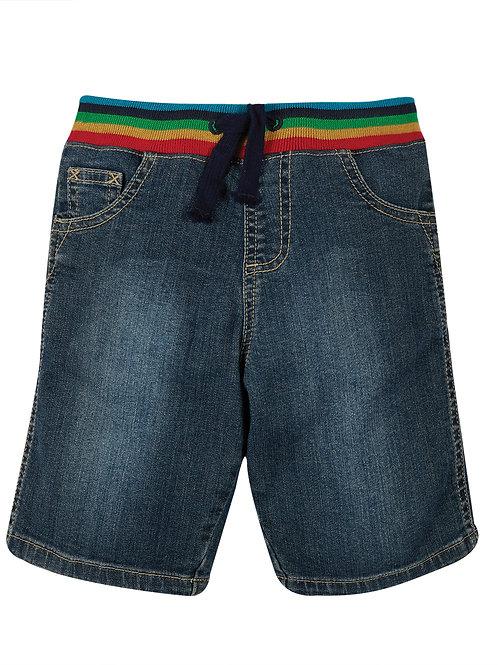 Frugi Dorian Denim Shorts, Mid Wash Denim