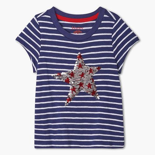 Hatley Red Star Flip Sequins Graphic Tee