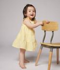 Petit Bateau Yellow Seersucker Dress