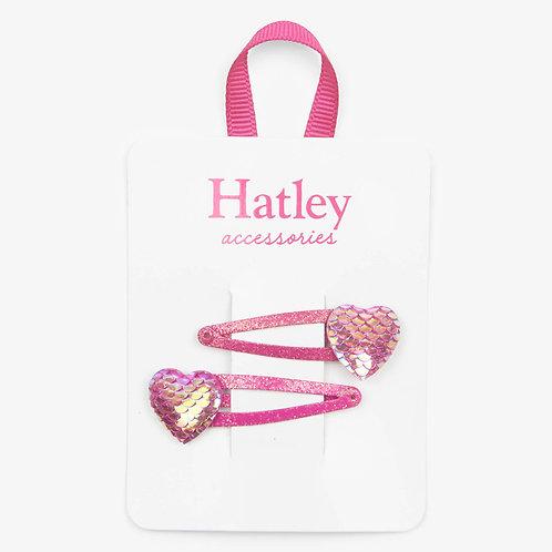 Hatley Glimmer Heart Snap Clips