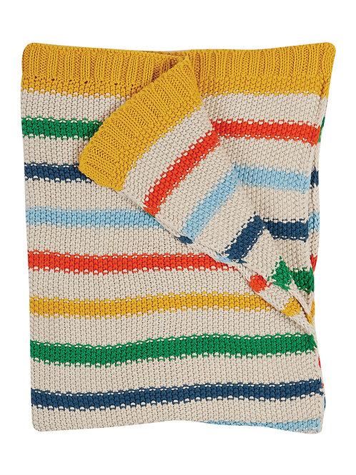 Frugi Cuddle Up Blanket, Rainbow Stripe