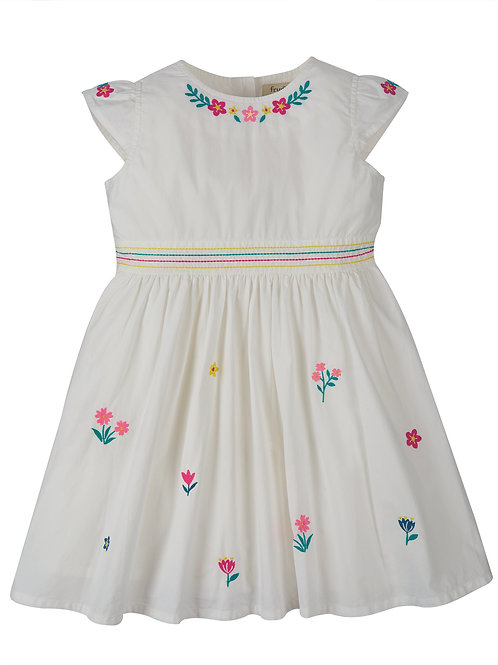 Frugi Rosy Embroidered Dress