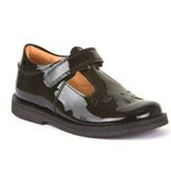 Froddo Patent Leather Black School Shoe G3140073-1