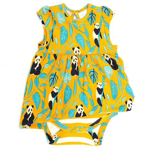 Piccalilly Panda Baby Body Dress