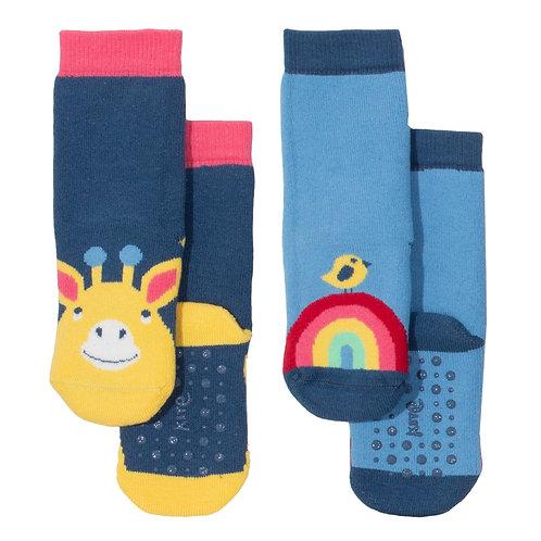 Kite Giraffe Grippy Socks