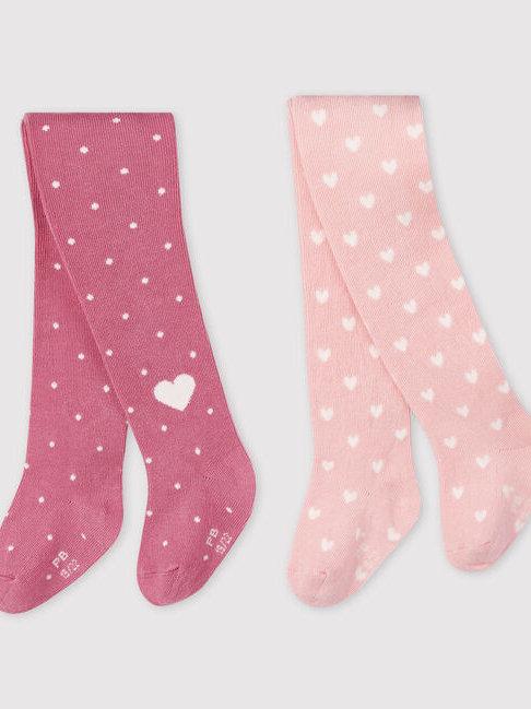 Petit Bateau Pink Tights 2 Pack