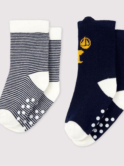 Petit Bateau 2 Pack Navy Socks