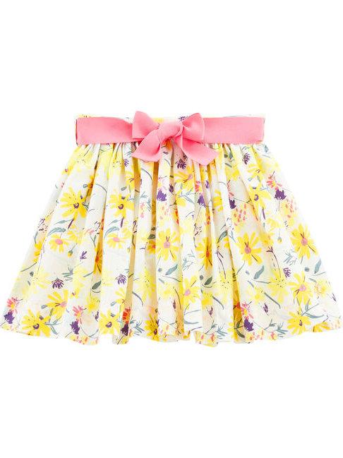 Petit Bateau Yellow Flower Skirt