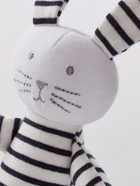 Petit Bateau Babies Striped Jersey Bunny Comforter