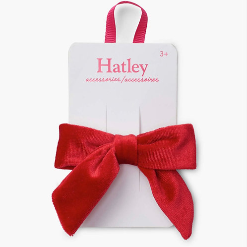 Hatley Red Velvet Hair Clip