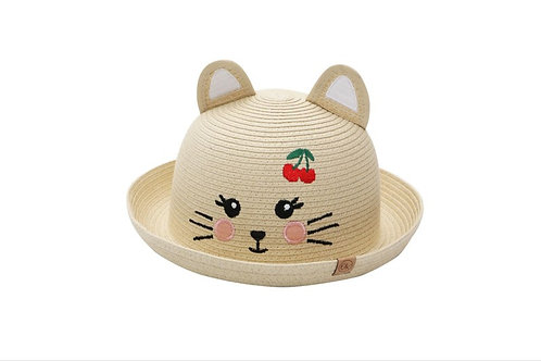 Flapjackkids Cat Straw Hat