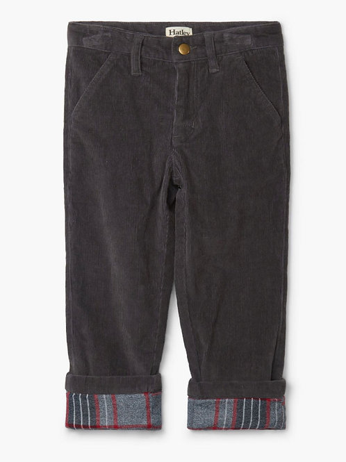 Hatley Grey Stretch Cord Trousers