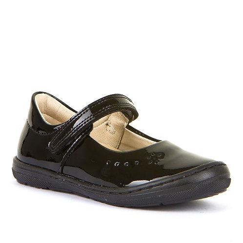 Froddo Balck Patent Leather School Shoe G3140053-1