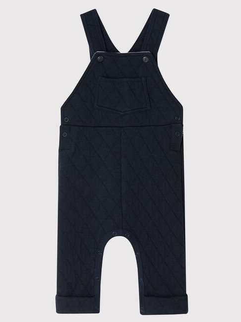 Petit Bateau Navy Quilted Dungaree
