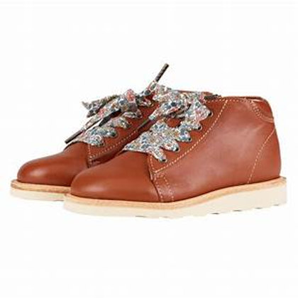 Young Soles Hattie Leather Monkey Boot Chestnut Brown