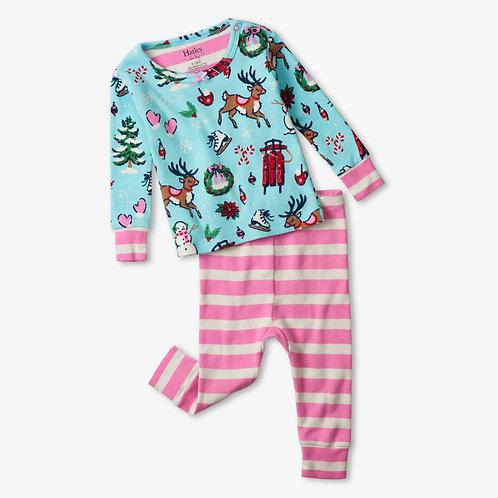 Hatley Cabin Christmas Organic Cotton Baby Pyjama Set
