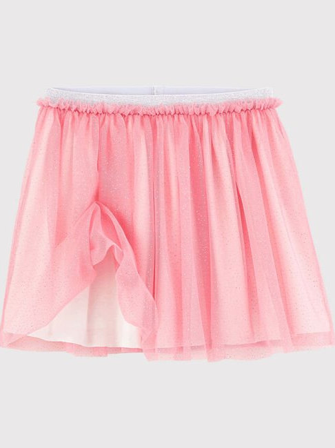 Petit Bateau Girl's Glittery Pink Tulle Skirt