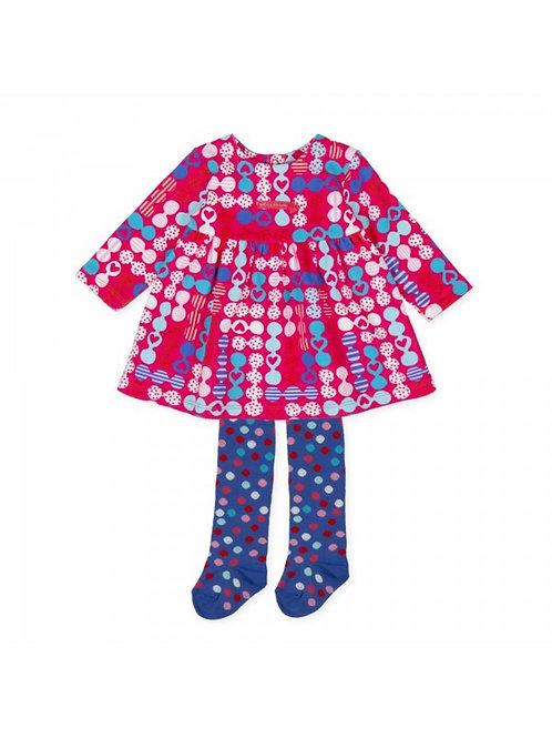 Agatha Ruiz De La Prada Multicolour Dress with Tights