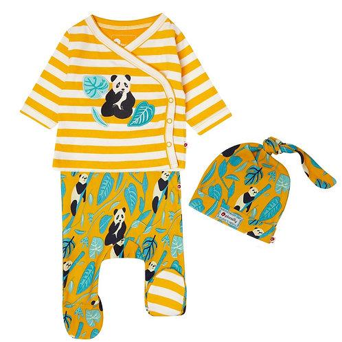 Piccalilly Panda 3 Piece Baby Set