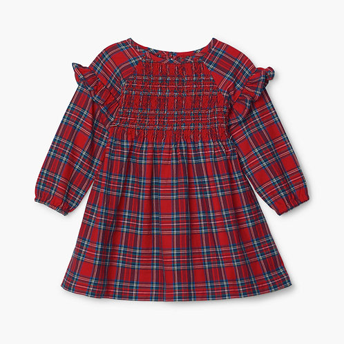 Hatley Holiday Plaid Baby Smocked Party Dress