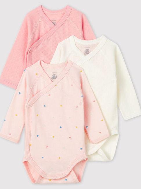 Petit Bateau 3 Pack Bodies - Pink