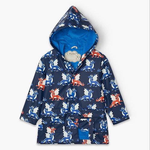 Hatley Dragons Colour Change Raincoat