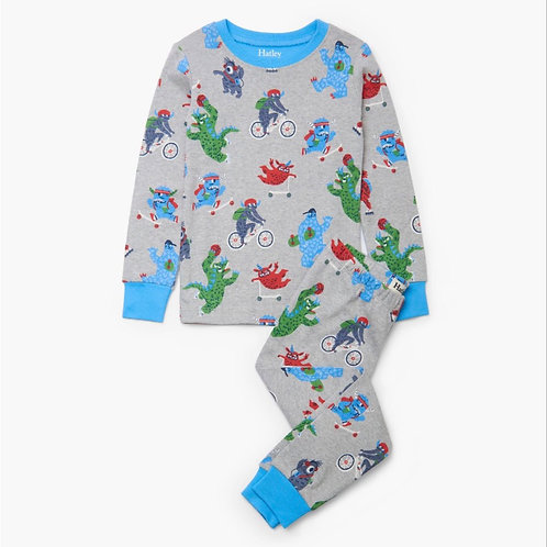 Hatley Back To School Monster Pyjamas