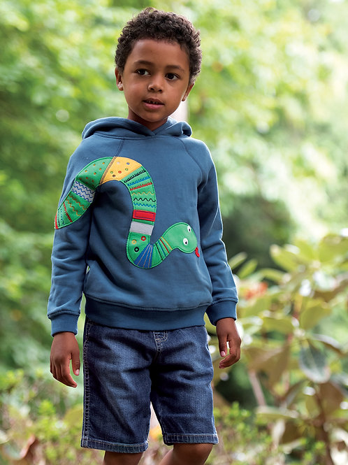 Frugi Hedgerow Hoody, India Ink/Snake