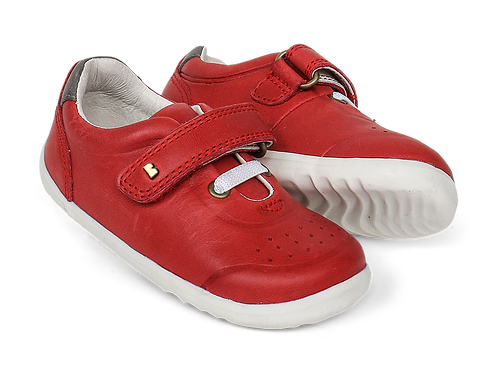 Bobux Step-Up Ryder Trainer, Red & Charcoal
