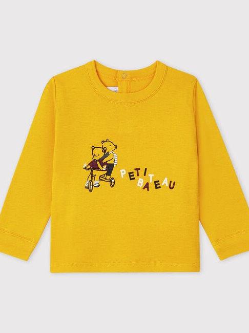 Petit Bateau Mustard Bear T Shirt