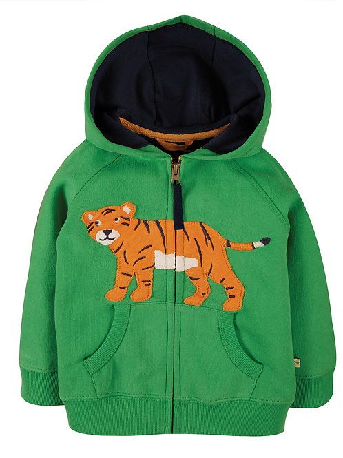 Frugi Hayle Hoody Glen Green Tiger