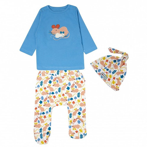 Piccalilly Fieldmouse 3 Piece Baby Set
