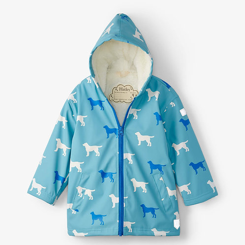 Hatley Friendly Labs Sherpa Lined Colour Changing Splash Jacket