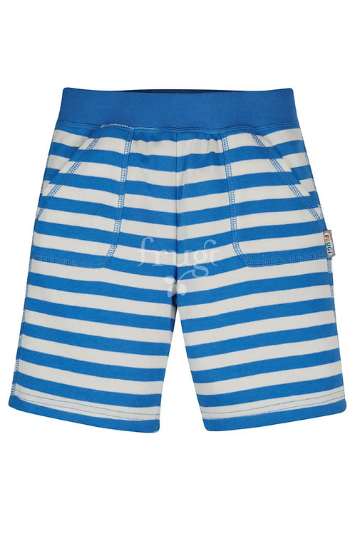 Frugi Favourite Shorts, Cobalt Blue Stripe