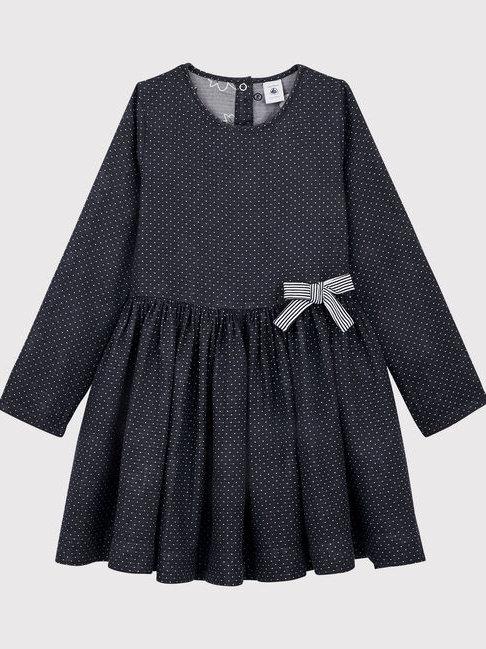 Petit Bateau Navy Pin Spot Dress