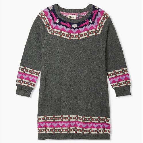 Hatley Charcoal Melange Sweater Dress