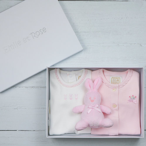 Emile et Rose Tessa New Baby Gift Set, Pink