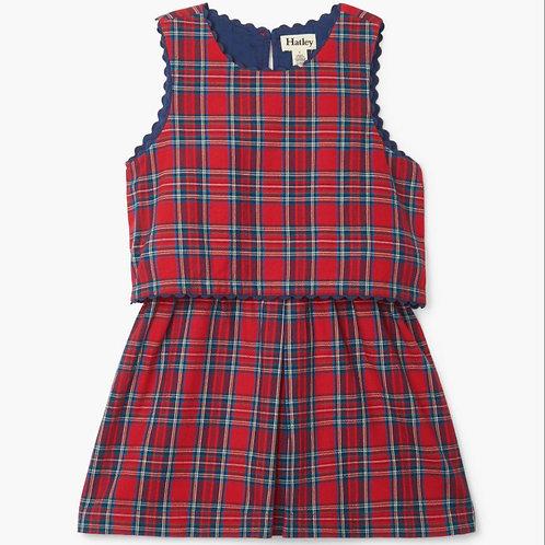 Hatley Holiday Plaid Layered Dress