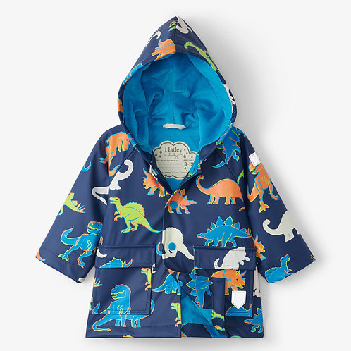 Hatley Linework Dinos Colour Changing Baby Raincoat