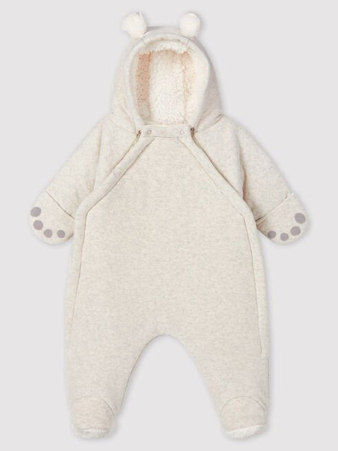 Petit Bateau Baby Bear Velvet Suit