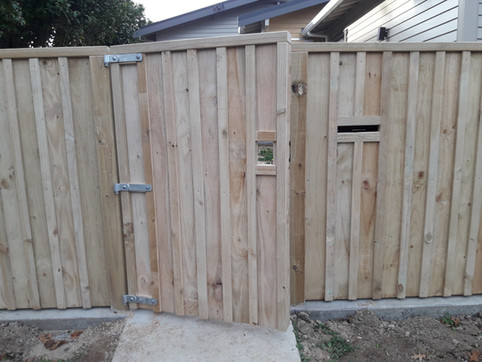 Paling batten fence and gate