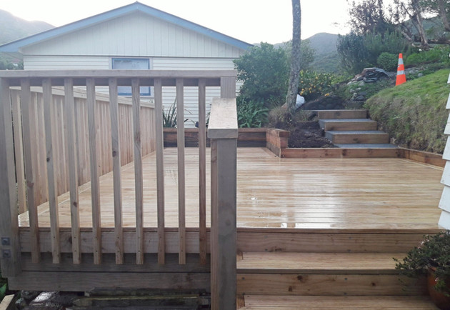 Wideboard front deck